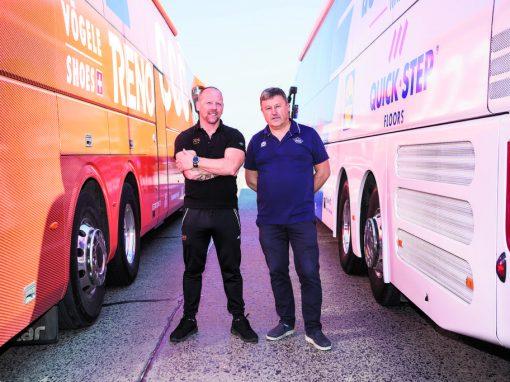 De West-Vlaamse buschauffeurs in het peloton